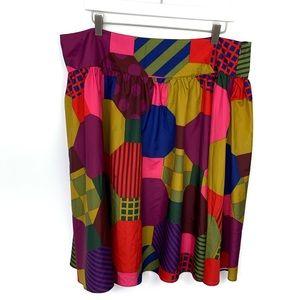 Isaac Mizrahi Target Colorful Mixed Pattern Skirt